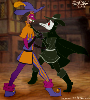 Clopin Trouillefou and Dr. Vali by thejonwalter