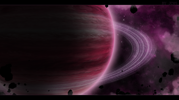 Wallpaper Spaceart - Rose Giant by Mataraelfay