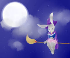 Art Trade: By the Light of the Moon by socksyy