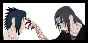 Itachi and Sasuke by exkiiL
