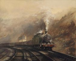 South Wales Coal Train by Pictonart