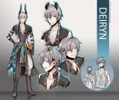 + Deiryn - character design + by goku-no-baka