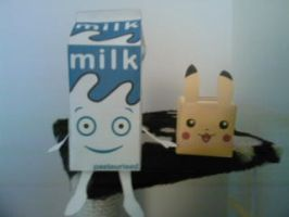 Papercraft - Pikachu and Milk by Racoon-bros665