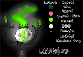 Six the Chandelure Reference. by batskies