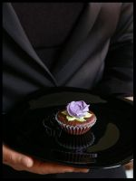 Purple Rose Cupcake by CakeUpStudio