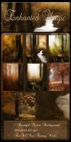 Enhanted Magic backgrounds by moonchild-lj-stock