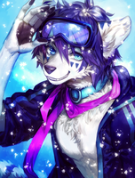 ::Commission:: Snow Comm // Azra-fox by Jotaku