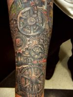 mechanical arm by justinstattoos