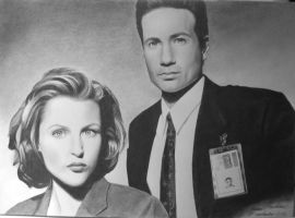 Mulder and Scully by HannaKarlsson