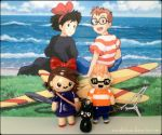 Chibi Charms: Kiki, Tombo, and Gigi! by Marielishere