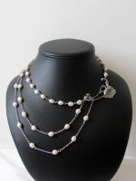 victorian, retro freshwater pearls necklace by yinco