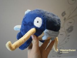 Handmade Whiscash Plushie by HipsterOwlet