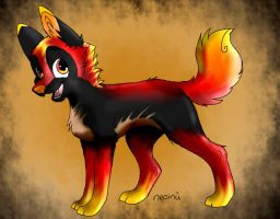 Commission: Seras and Roku Pup 2 by Niyra