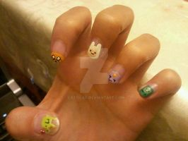 Adventure Time Nail Art by Cattilac