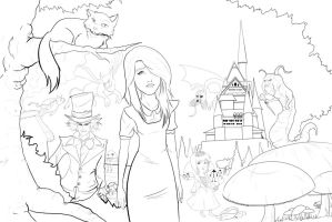alice in wonderland by Alan-Anguiano