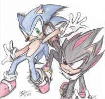 Sonic vs. Shadow by animeruler100