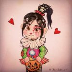Vanellope Halloween drawing by Danikas-Art26