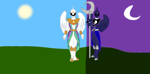 Ponyranger: Celestia and Luna by DarthCraftus