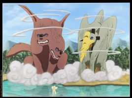 naruto vs invocaciones de pain full color by win-tobi