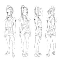 Her: Model Sheet Sketch | Stardust by moxie2D