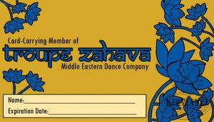 Troupe Zahava Member Card by sarahb86