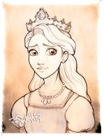 Rapunzel's mother, the Queen +sketch+ by 77Shaya77