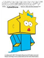 Cubeecraft - Maggie Simpson by CyberDrone