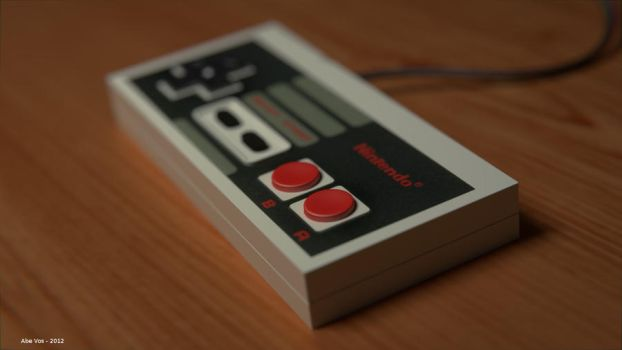 NES Controller by ManWithAJawharp