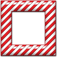 Candy Cane Frame 02 by clipartcotttage