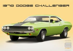 vectorized DODGE CHALLENGER by clarabox