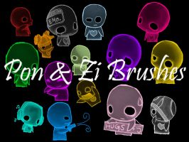 My Brushes 2: Pon and Zi by Ebony-Chrystal