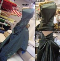 Draped Evening Gown by apiroo