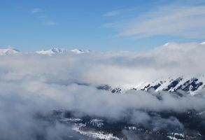 Mountains with Snow 2 by prints-of-stock