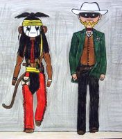 The Lone Ranger And Tonto by Supajames1