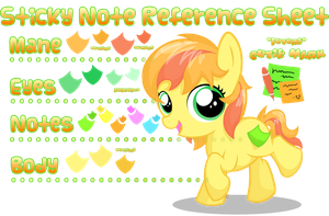 Sticky Note Reference Sheet by equinepalette