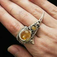 LUVIEENTH - silver , citrine and rutilated quartz. by LUNARIEEN