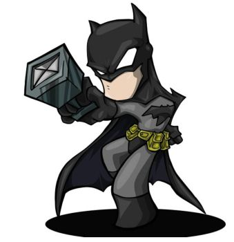 vectored batman by bunleungart