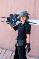 Noctis Lucis Caelum smile by AngelEmoGirl