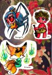 Japanese mythical creatures chibi's 2 by Inya-spring
