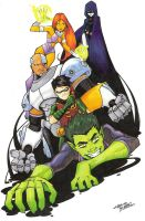 marker: Teen Titans by KidNotorious