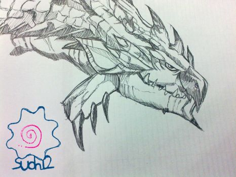 Silver Rathalos Doodle by suoh12