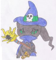 Banette dressed like Wizarmon by MarillMatey