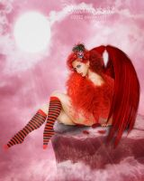 Red angel by Blackmoons32