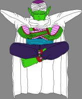 Barefoot Pure-Hearted Piccolo Jr. meditating by DragonBallFan2012