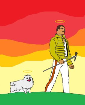 RIP Freddie Mercury and Gabe The Dog by zack1133572