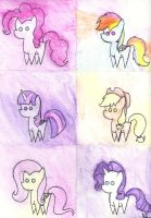 Watercolor Ponies by StarryEyedDayDreamer