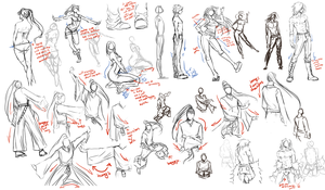 Learning to draw clothes by moni158