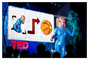 Zero Suit Samus Gives a TED Lecture - Live Action by hugyucom