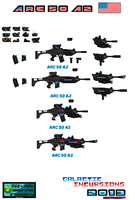Concept Weapons ARC 50 A2 For SSMU Pixel Art by Luckymarine577