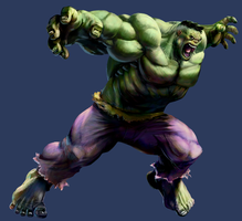 MvC2 Hulk by joverine